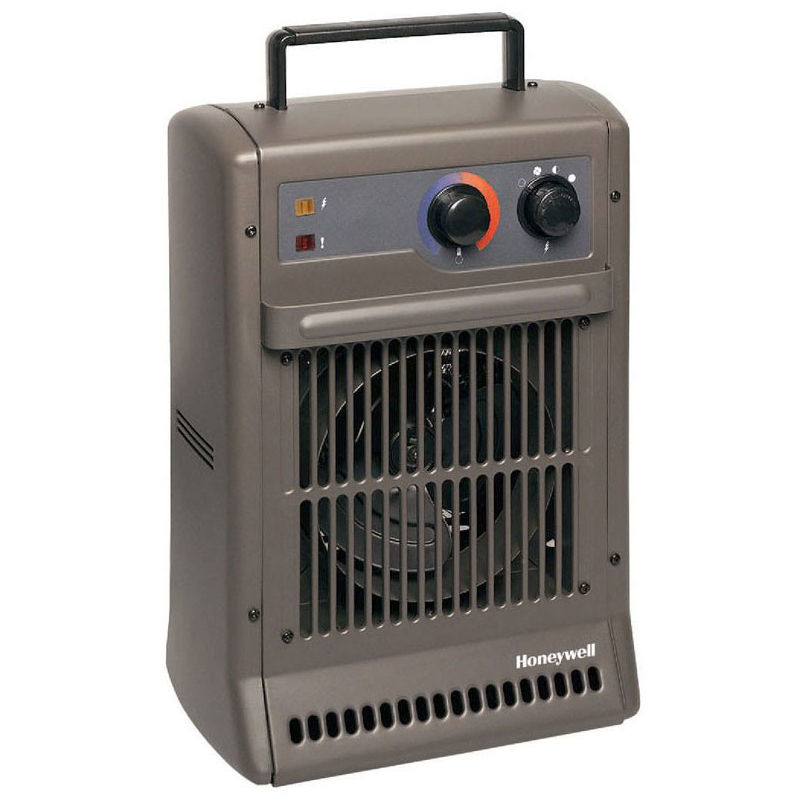 Duracraft CZ 2104 E - Calefactor turbo potente, potencia 2500W. Color gris antracita - HONEYWELL