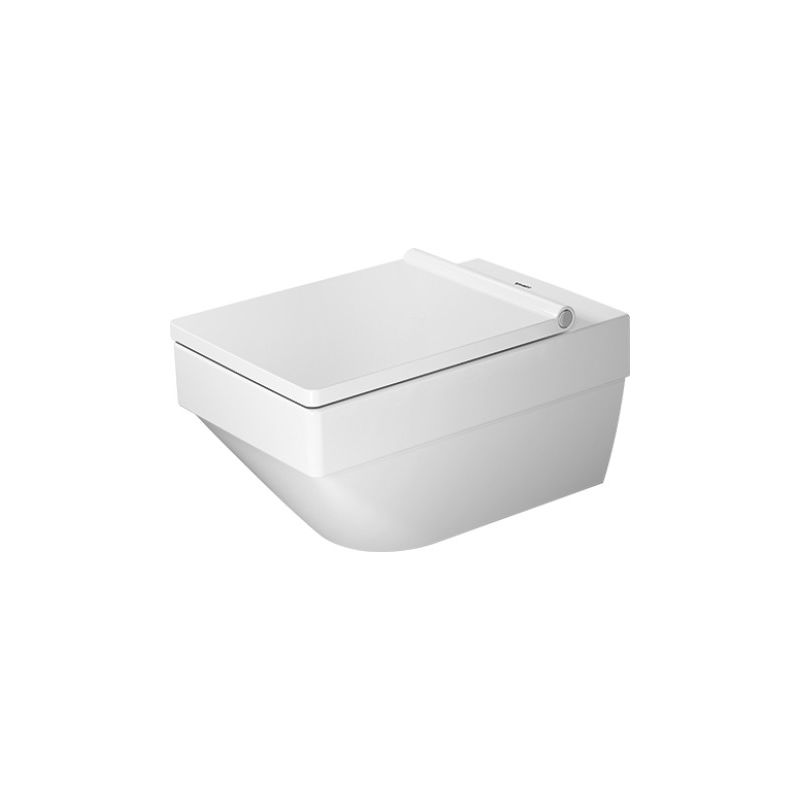 Duravit Vero Air inodoro de pared Duravit Rimless 37x57cm, sin borde de lavavajillas, lavable, color: Blanco con Wondergliss - 25250900001 - DURAVIT
