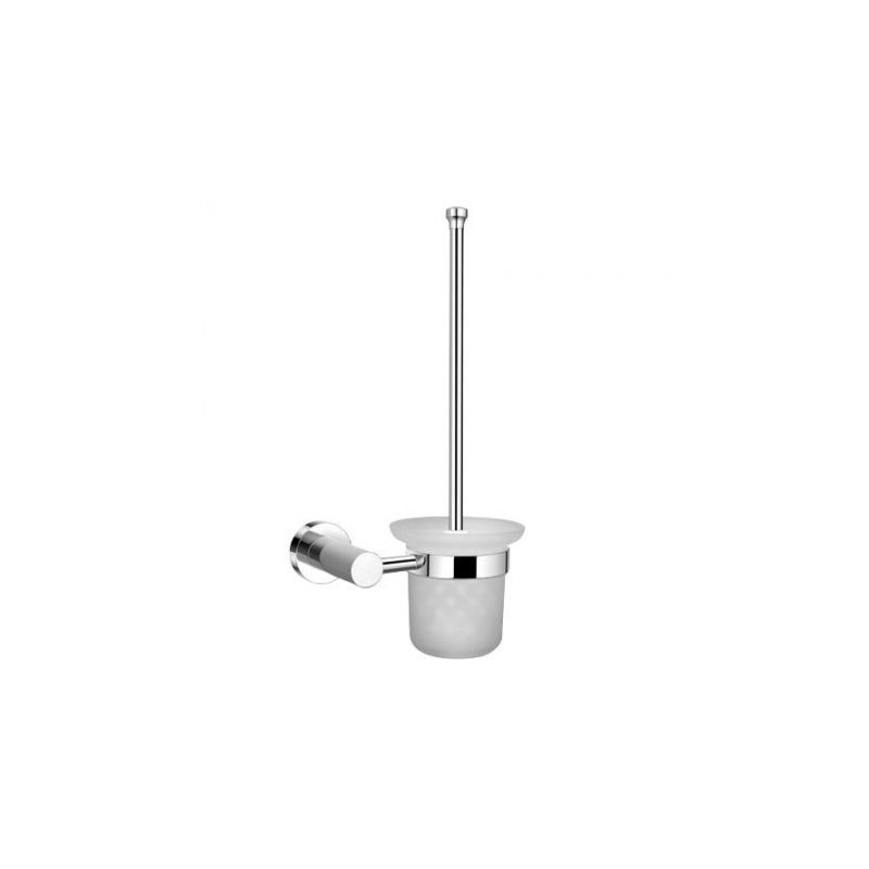 Escobillero maurer wc pared cristal frost inoxidable