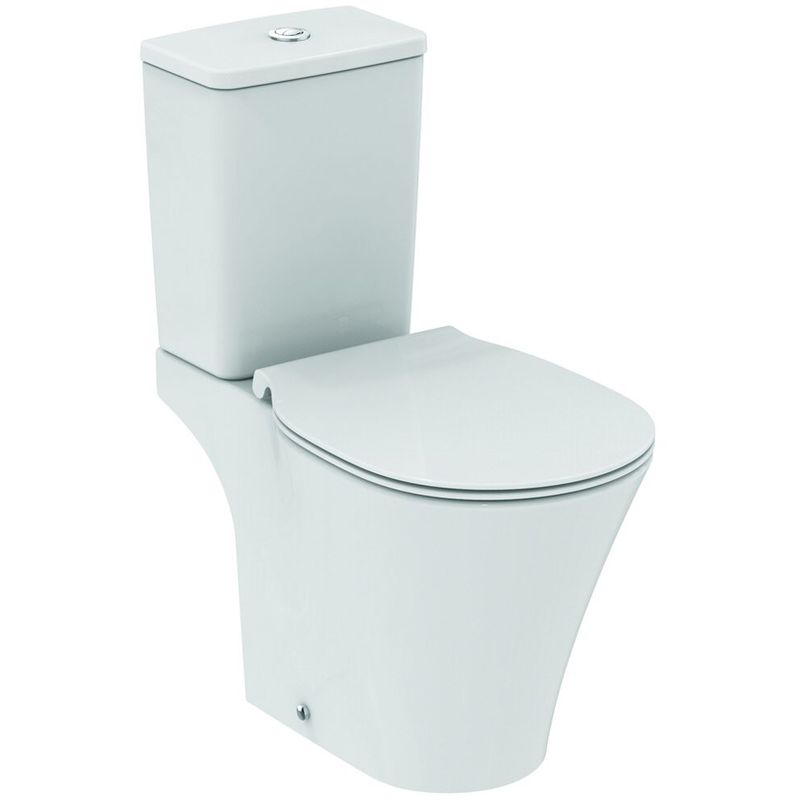 Ideal Standard Connect Air Combinación de lavabo independiente AquaBlade, E0097, color: Blanco con Ideal Plus - E0097MA