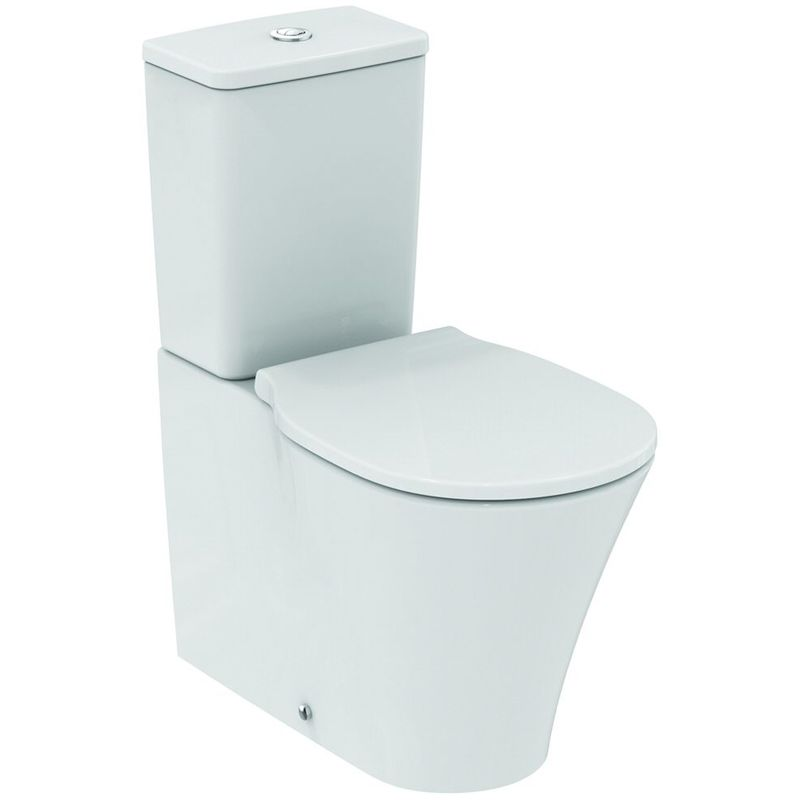 Ideal Standard Connect Air Combinación de lavabo independiente AquaBlade, E0137, color: Blanco con Ideal Plus - E0137MA