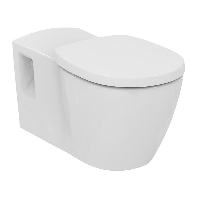 Ideal Standard Connect Freedom Lavado de pared sin barrera, E8194, color: Blanco con Ideal Plus - E8194MA