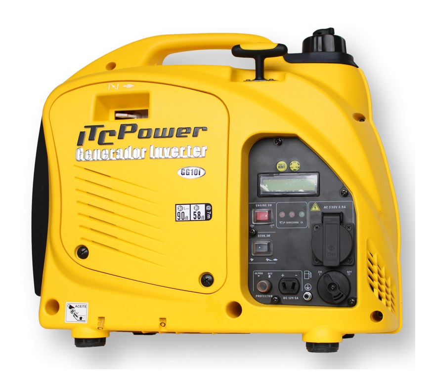 ITCPOWER - Generador Inverter 0,9/1,0 Kw. Unicamente 16 kg. Silencioso. Corriente 100% estable - ITC POWER