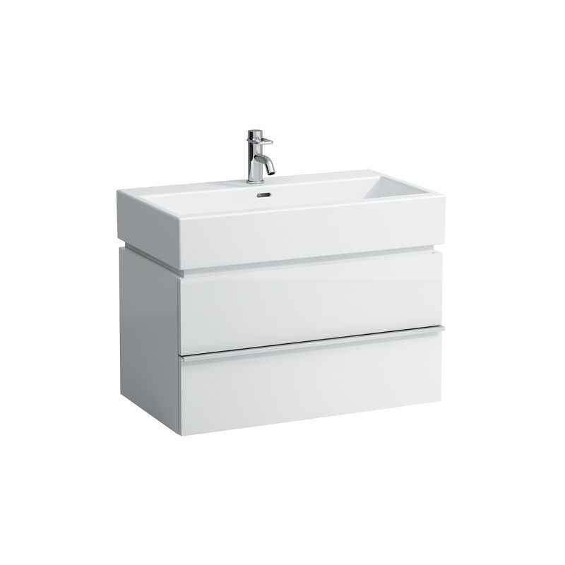 Mueble bajo lavabo Laufen, 2 cajones, 455x790x455, apto para lavabo living city 817436, color: Blanco brillante - H4012420754751