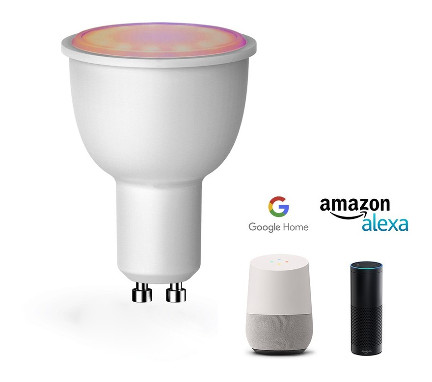 Bombilla GU10 LED SMART RGBWW 4.5W compatible con WIFI / ALEXA / GOOGLE HOME - BARCELONA LED