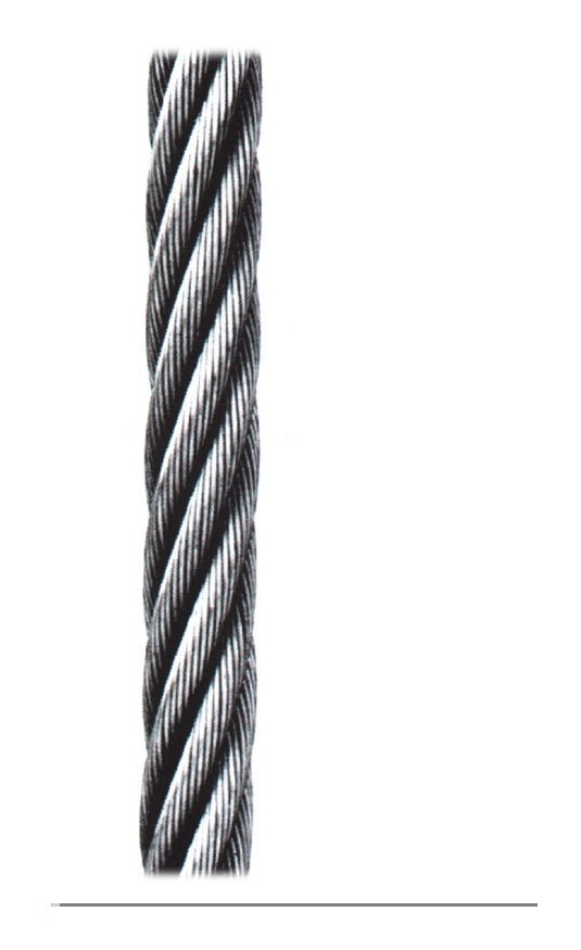 Cable Sirga Galv R/50 Mt Cables Y Eslingas 6X7+1