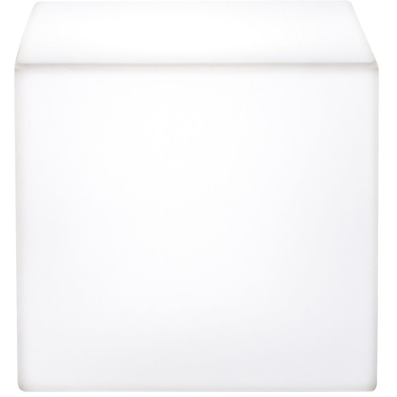 Cubo de resina 41 cm Blanco cm 41x41x41 Plart Design - prodotto made in Italy CV-DP1817/NEUTRO
