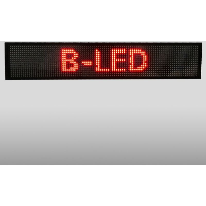 Letrero LED programable monocolor rojo 500x95mm WIFI / USB - BARCELONA LED
