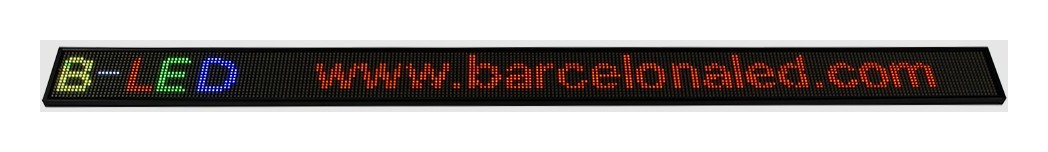 Letrero LED programable RGB 1300x95mm WIFI / USB - BARCELONA LED