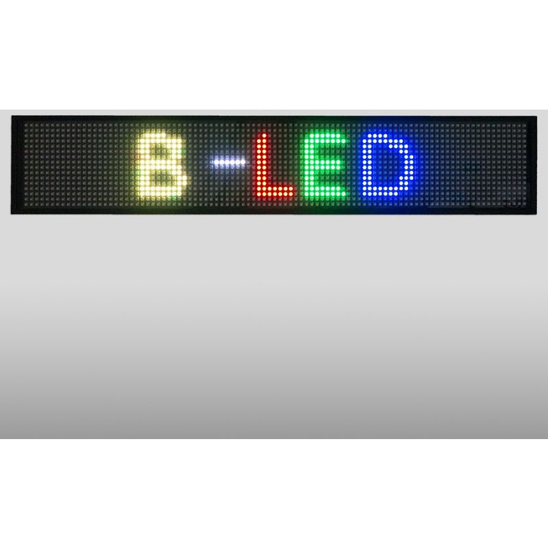 Letrero LED programable RGB 500x95mm WIFI / USB - BARCELONA LED