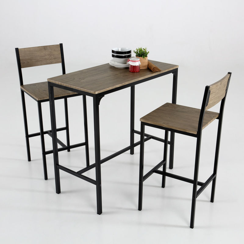 Set de mesa + 2 taburetes altos - KIT CLOSET