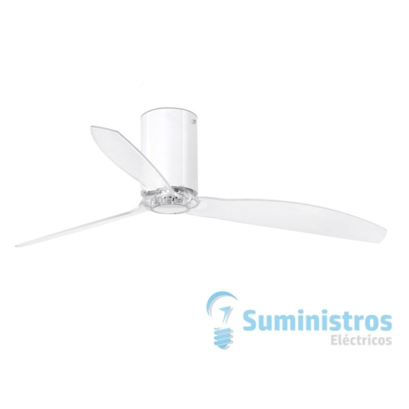 Ventilador de techo Faro Barcelona 32038 MINI TUBE blanco brillo con motor DC
