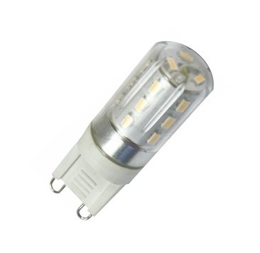 Bombilla LED G9 2W 230V 49x15mm 3000K - SILVER