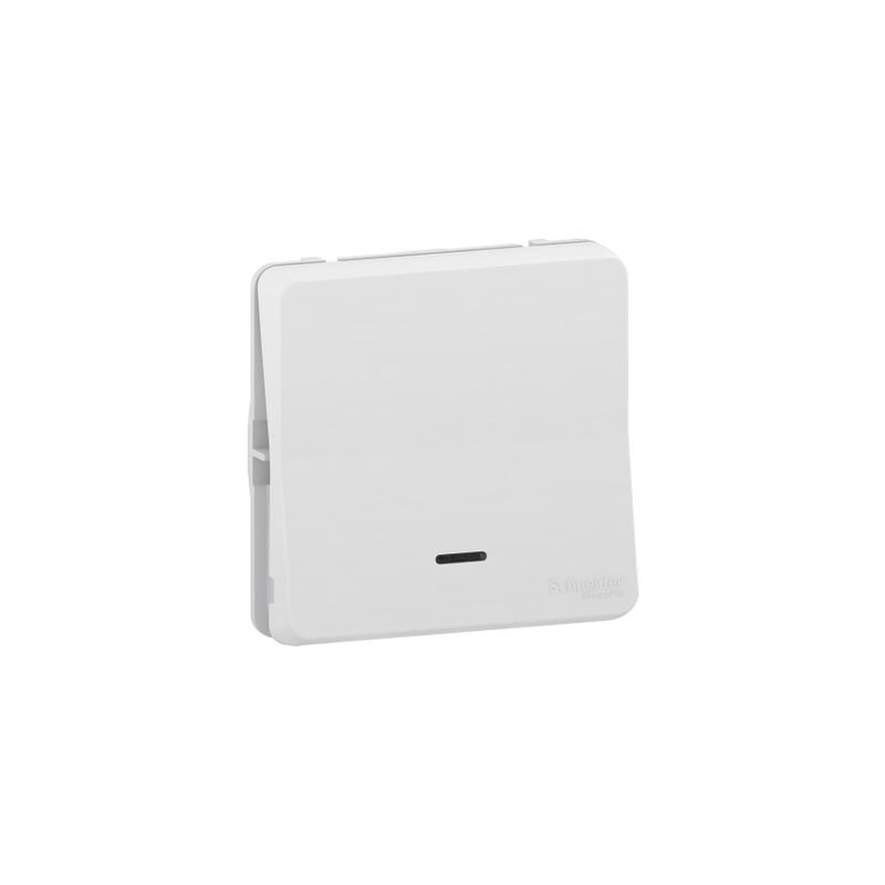 Conmutador con LED IP55 Blanco SCHNEIDER ELECTRIC MUR39024