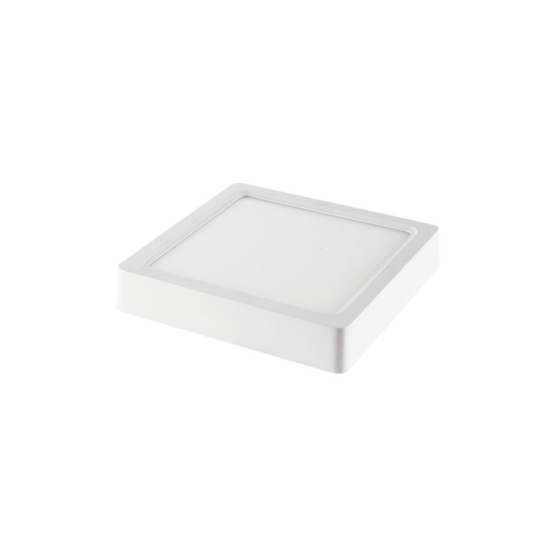 Plafón LED superficie cuadrado 18W 120° Temperatura de color - 3000K Blanco cálido - V-TAC