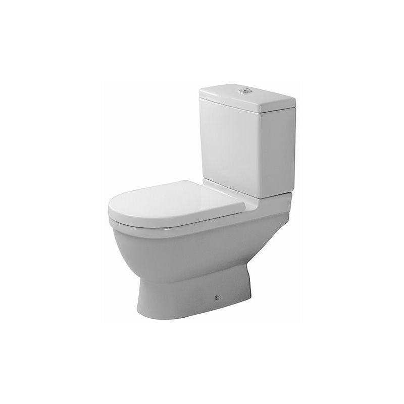 Duravit Ag - Duravit stand WC Kombi Starck 3 65,5cm, salida vertical, blanco, color: Blanco con Wondergliss - 01260100001
