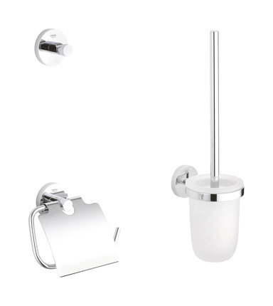 Grohe Essentials WC set 3 en 1 cromado - 40407001