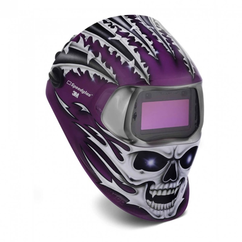 Pantalla Speedglas 100 Graphics con filtro  Raging Skull - Variable 3/8-12 - SPEEDGLAS 3M