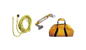 Safetop - Kit línea de vida vertical  Kit vertical 20 m
