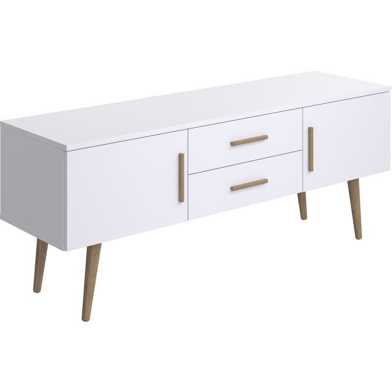 Mueble TV Dallas Blanco - TABLEROS