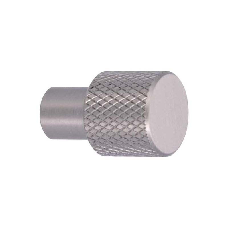 Pomo para muebles SIRO Aluminio - 16 mm - acero inoxidable mate