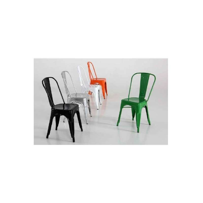 Silla de metal varios colores Color Verde - KITCLOSET