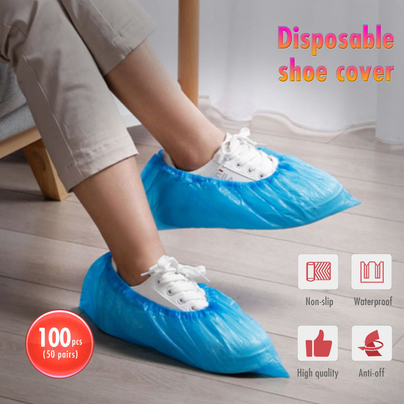 100PCS / 50Pairs, zapatos cubierta, Cubiertas desechables para zapatos, impermeable - ASUPERMALL