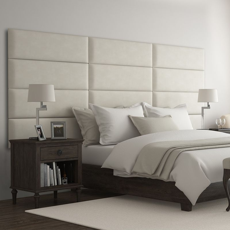 Cabecera Tapizada Panel Decorativo - Pared Tapizada 91cm Beige - VANT PANELS