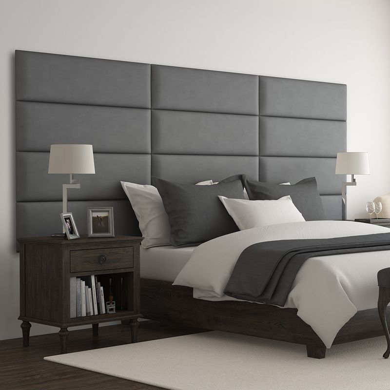 Cabecera Tapizada Panel Decorativo - Pared Tapizada 91cm Gris - VANT PANELS