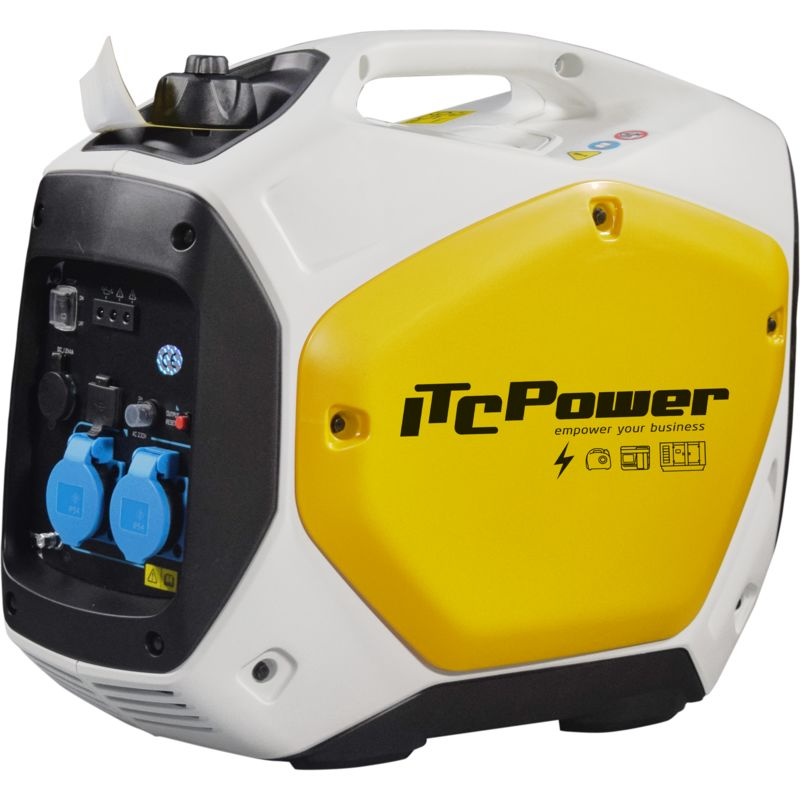 ITCPOWER - Generador Inverter 1,6/2,0 Kw. Unicamente 22 kg. Silencioso. Corriente 100% estable - ITC POWER