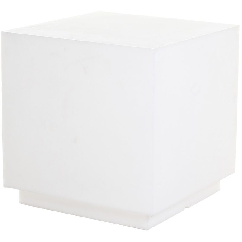 Cubo de resina 55 cm Blanco cm 55x55x55 Plart Design - prodotto made in Italy CV-DP1929/NEUTRO