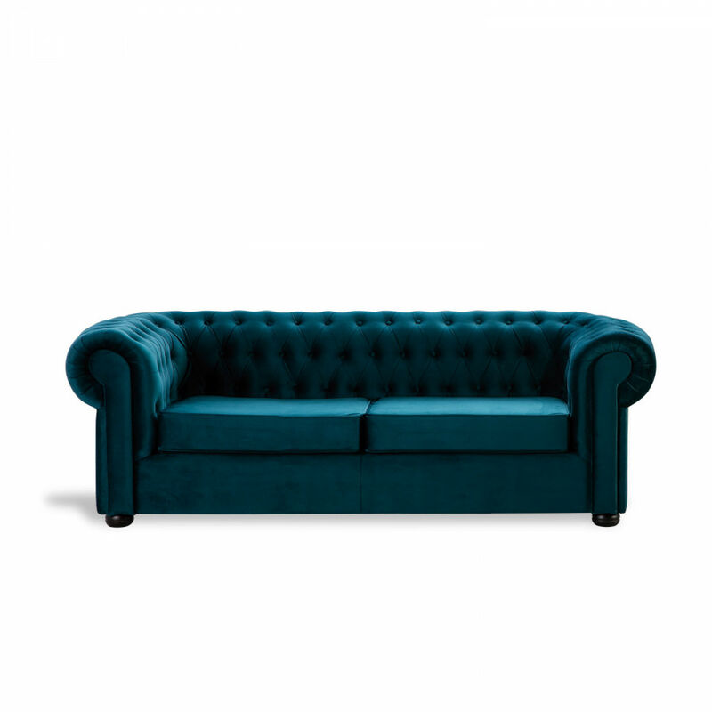 Sofá Chester Velvet Edition Verde Oscuro Sofa 2 Plazas - HOME DESIGN