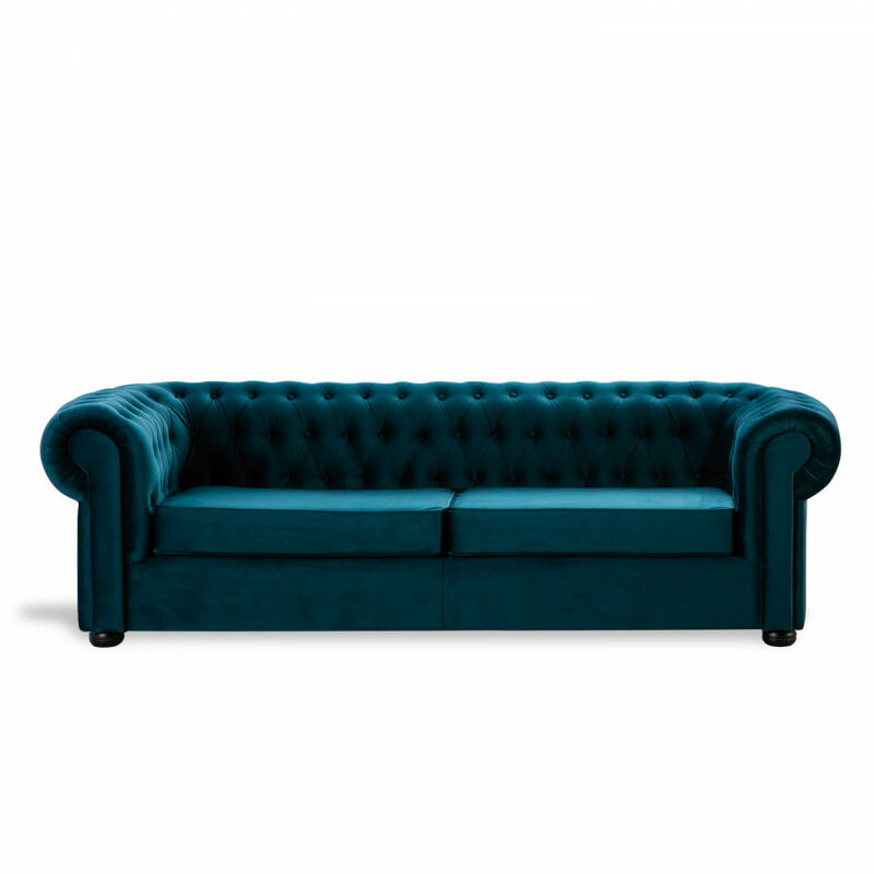Sofá Chester Velvet Edition Verde Oscuro Sofa 3 Plazas - HOME DESIGN