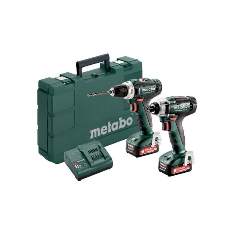 Metabo 685166000 Set 2.7.1 12V Li-Ion PowerMaxx BS12 + PowerMaxx SSD12BL + 2x Li-Power 12V 2Ah + SC30 Con maletín