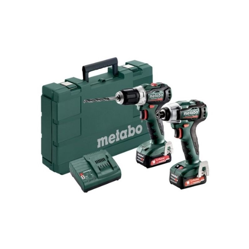 Metabo 685168000 Set 2.7.3 12V Li-Ion PowerMaxx BS12BL + PowerMaxx SSD12BL BL + 2x Li-Power 12V 2Ah + SC30 Con maletín