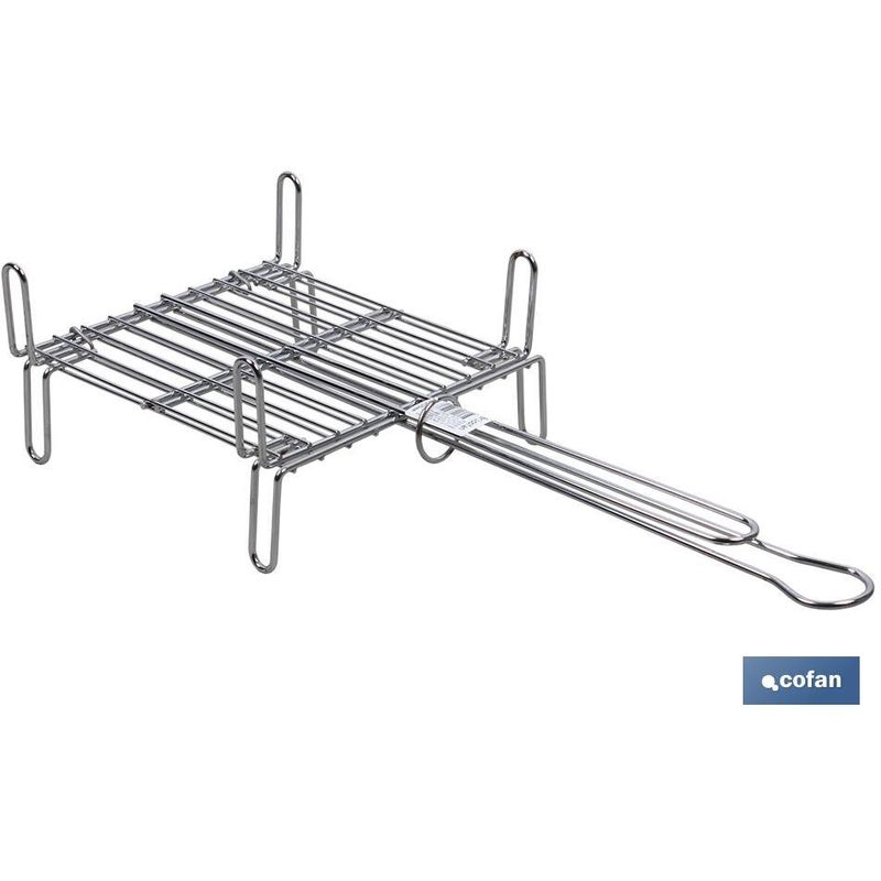 Parrilla Doble Cromada 300 X 300Mm - COFAN
