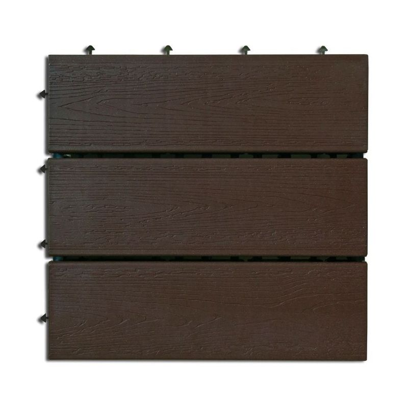 Loseta exterior composite color chocolate 30 x 30cm 6uds. Nortene