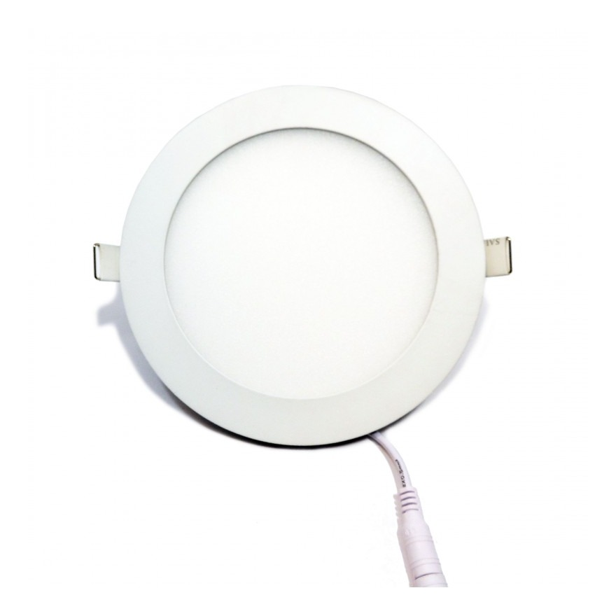 Placa downlight LED 12W empotrable circular  Blanco Neutro - BARCELONA LED