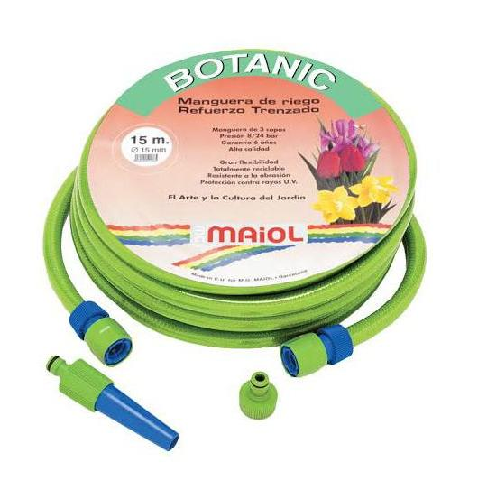 Manguera Látex Botanic 15mm 25m Kit Completo - MAIOL