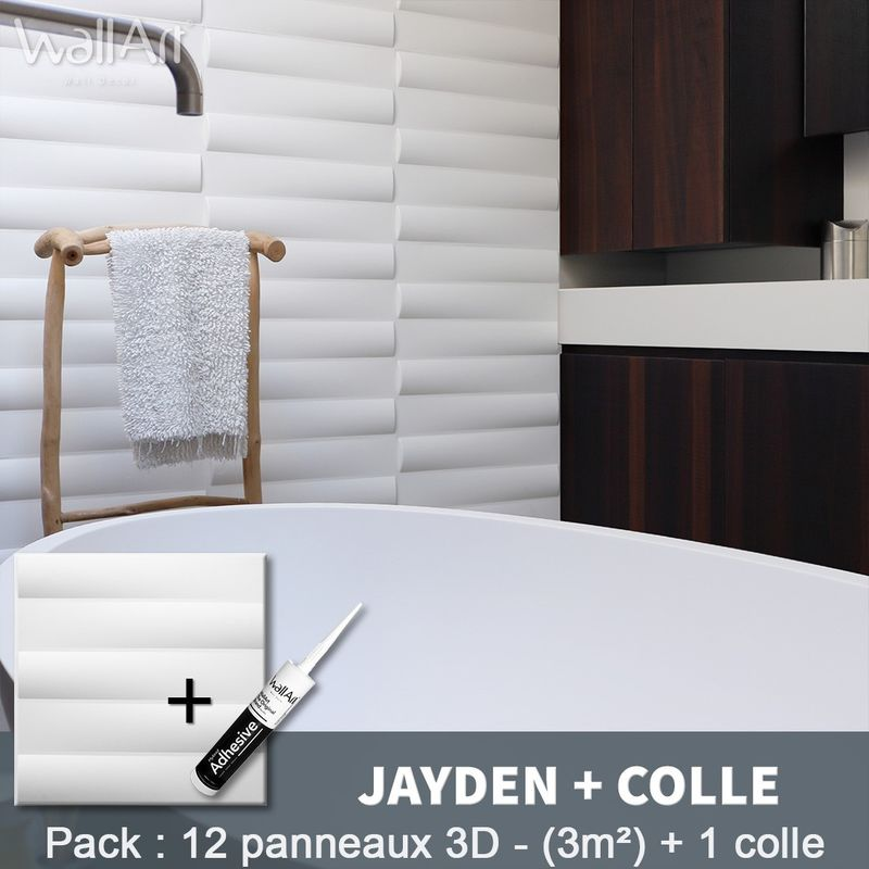 Paneles decorativos 3D Jayden Panel de pared + Pegamento WallArt - WALLART 3D