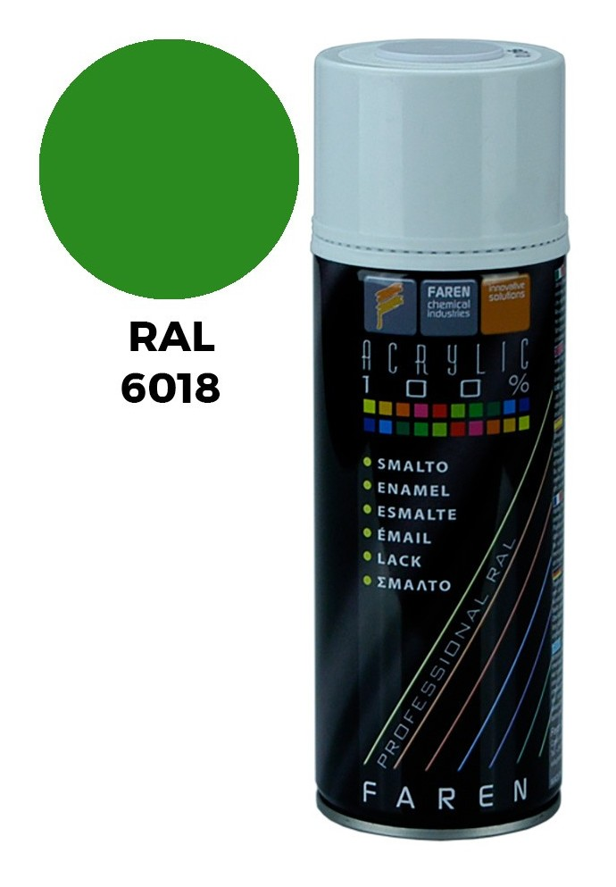Spray Ral 6018 Verde Amarillento 400Ml. - FAREN