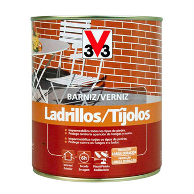 Barniz ladrillo brillante 750ml - V33