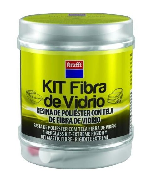Krafft - KIT MASILLA TELA FIBRA + ENDURECEDOR 14492