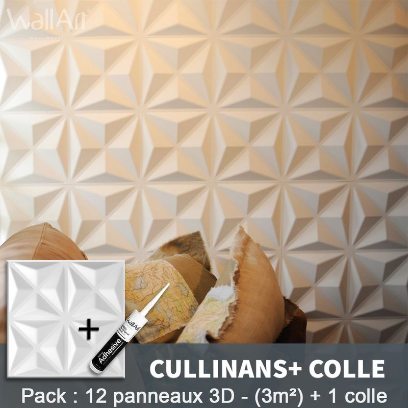 Paneles decorativos 3D Cullinans Panel de pared + Pegamento WallArt - WALLART 3D