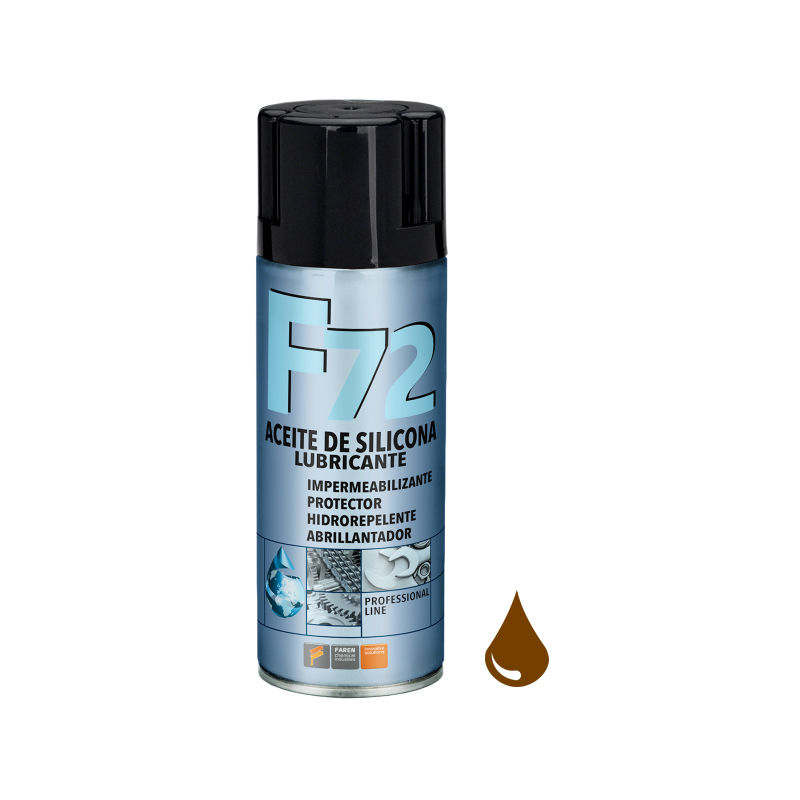 Spray lubricante siliconico F72 400ml. (Faren 972003)