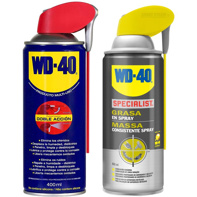 WD-40 - Lote Grasa WD40 Doble Accion 400 Ml + Specialist Grasa en Spray 400ml - Pack 2 unidades