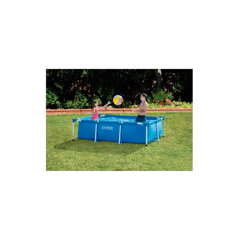 Intex - PISCINA DESMONTABLE RECTANGULAR TUBULAR FRAME