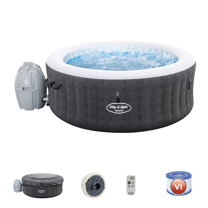 Spa Hinchable Bestway Lay- Z-Spa Havana Para 2-4 personas Redondo - 54298