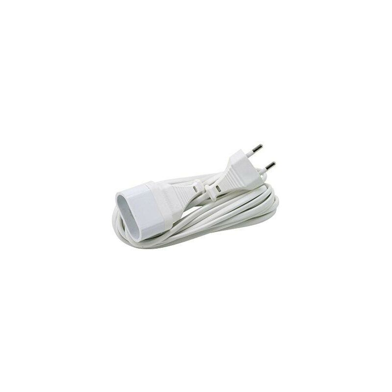 Setronic - Cable Prolongador Electrico 4mm 5mts BLANCO 8155E