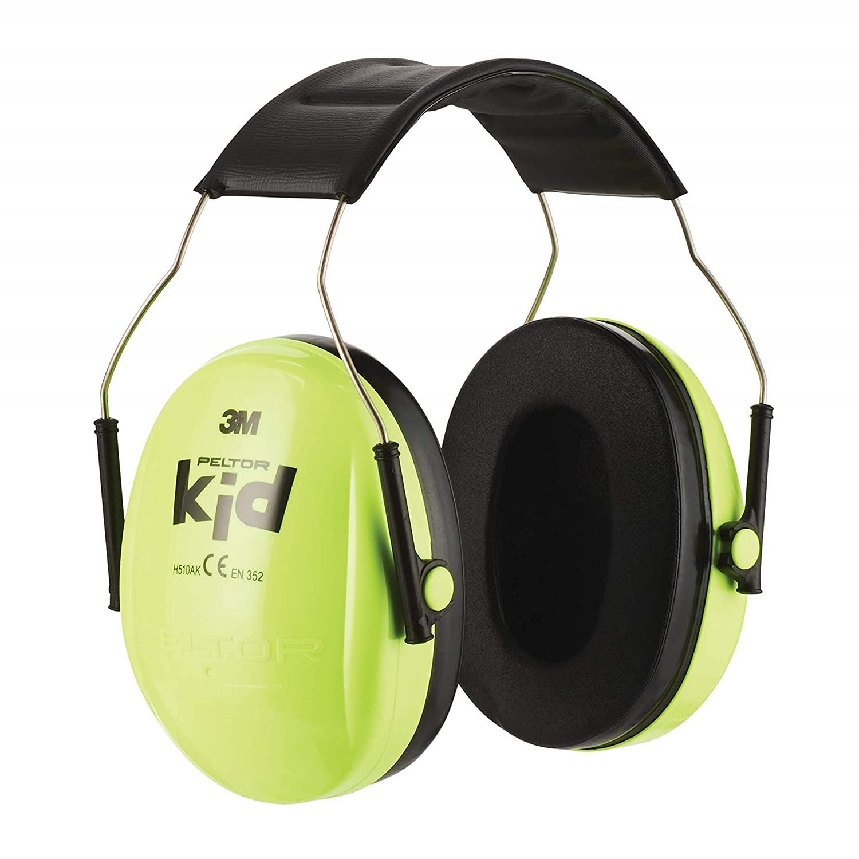 3M H510AK Peltor Kid, Protectores auditivos para niños a partir de 2 años, Nivel de ruido hasta 98 dB, ligero, Verde